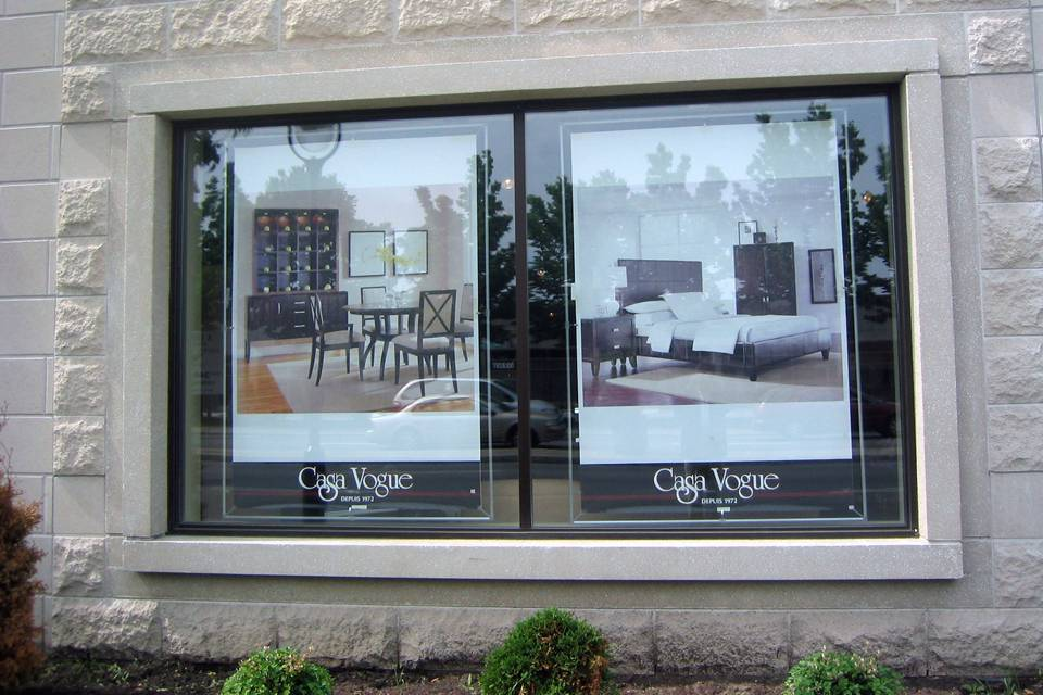 window poster frame to display a 48x72� poster afix
