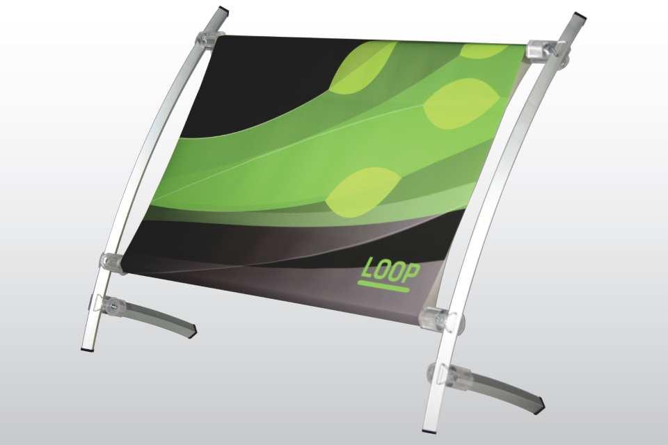 Stand de comptoir loop pour affiche 18x12 for Stand comptoir
