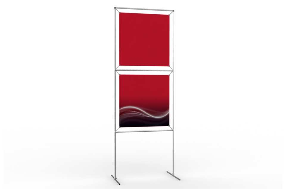 Totem stand to display 24 wide posters 1x2 afix for Totem stand