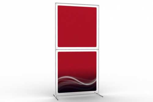 "Totem Stand to display 36"" wide posters (1x2)"