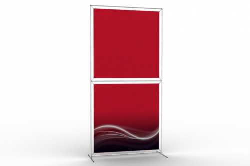 "Totem Stand to display 48"" wide posters (1x2)"