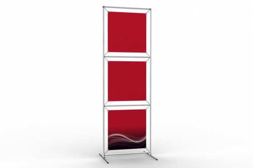 "Totem Stand to display 18"" wide posters (1x3)"