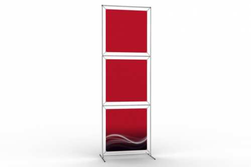 "Totem Stand to display 24"" wide posters (1x3)"