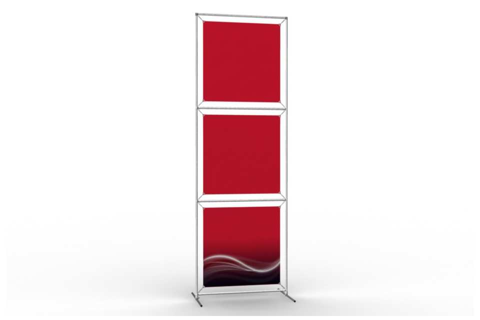 Totem stand to display 24 wide posters 1x3 afix for Totem stand