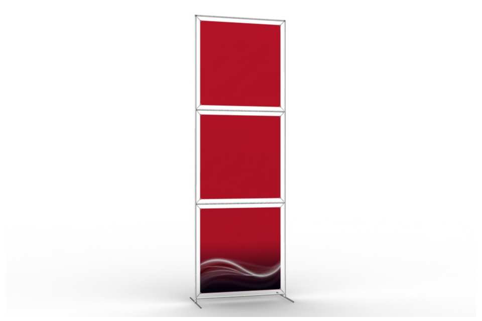 Totem stand to display 36 wide posters 1x3 afix for Totem stand