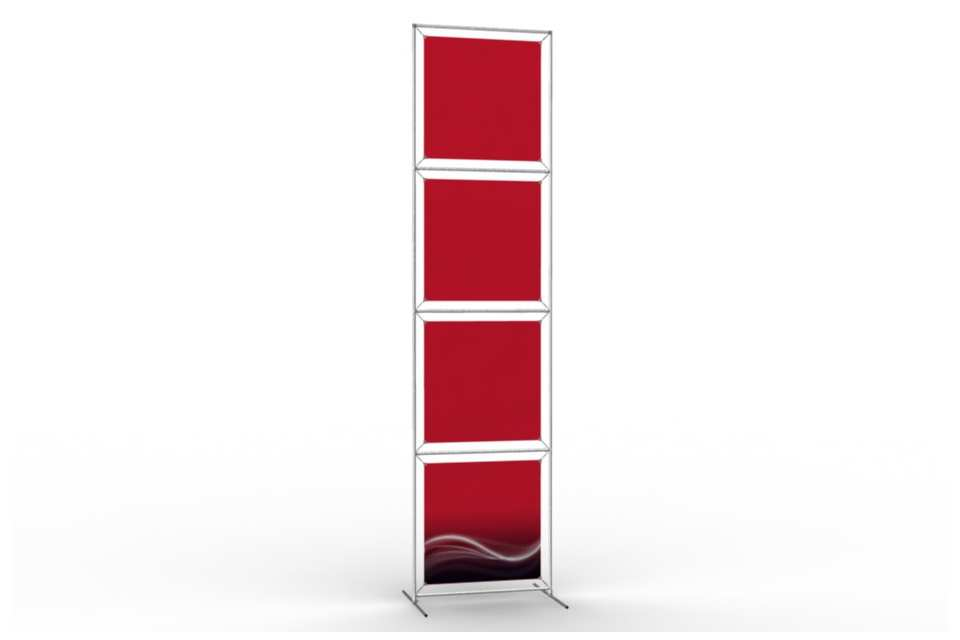 Totem stand to display 24 wide posters 1x4 afix for Totem stand