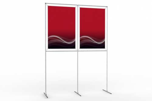 "Image Wall to display 24"" wide posters (2x1)"