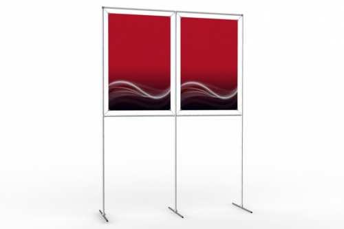 """Mur d'images pour deux posters de 24"""" (2x1)"""