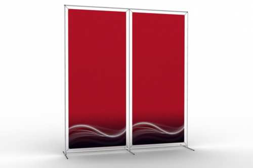 "Image Wall to display 36"" wide posters (2x1)"