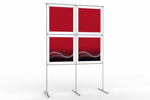 """Image Wall to display 18"""" wide posters (2x2)"""