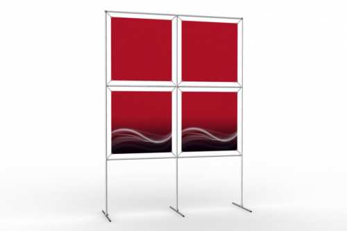 "Image Wall to display 24"" wide posters (2x2)"