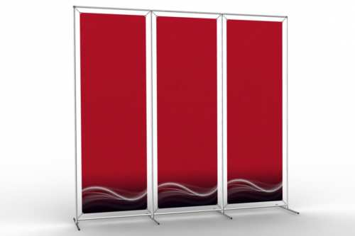 "Image Wall to display 24"" wide posters (3x1)"