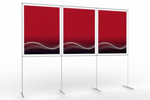 "Image Wall to display 36"" wide posters (3x1)"