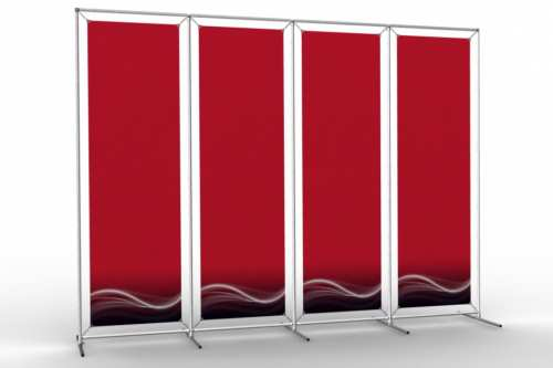 "Image Wall to display 18"" wide posters (4x1)"