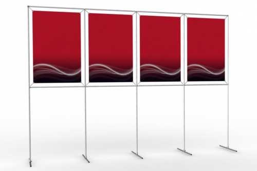"""Mur d'images pour quatre posters de 24"""" (4x1)"""