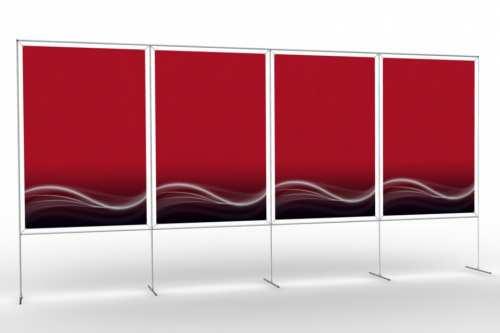 """Mur d'images pour quatre posters de 48"""" (4x1)"""