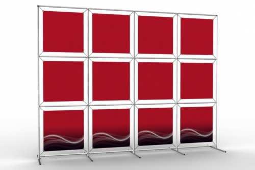 """Mur d'images pour douze posters de 18"""" (4x3)"""