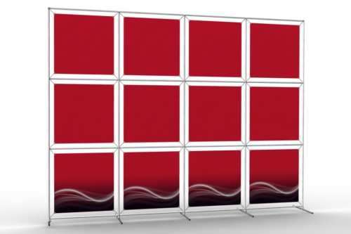 """Image Wall to display 24"""" wide posters (4x3)"""