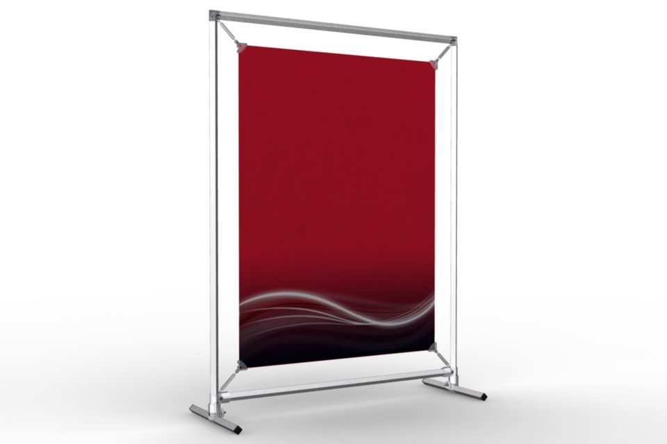 Upright counter stand to display an 18x24 poster afix for 18x24 window