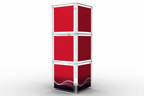 """Square Tower to display 24"""" wide posters (4x3)"""