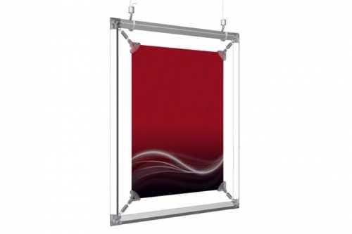 cadre suspendu pour un poster de. Black Bedroom Furniture Sets. Home Design Ideas