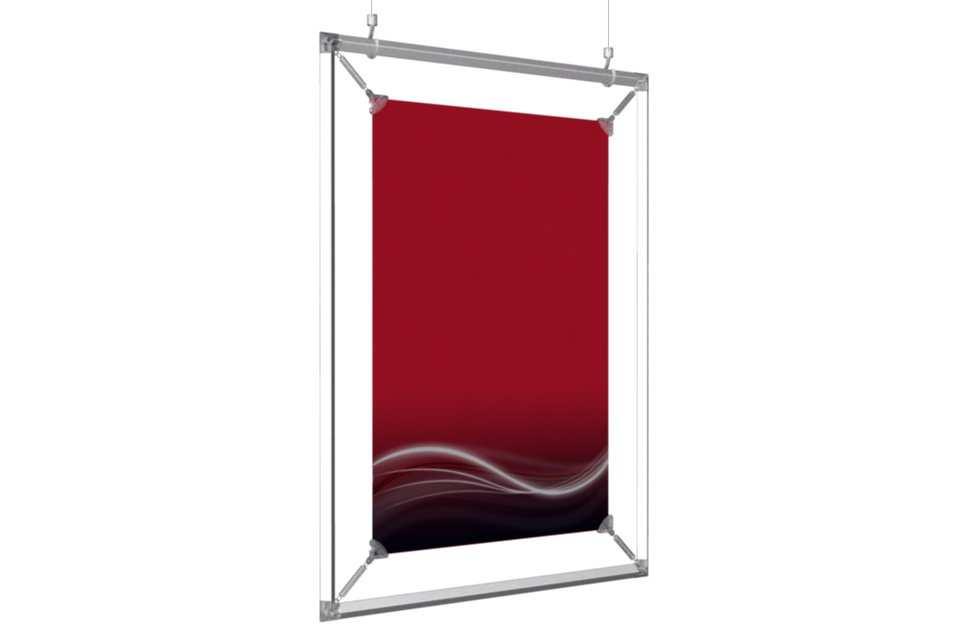 "Hanging Poster Frame to display a 12x18"" poster - AFIX Poster ..."