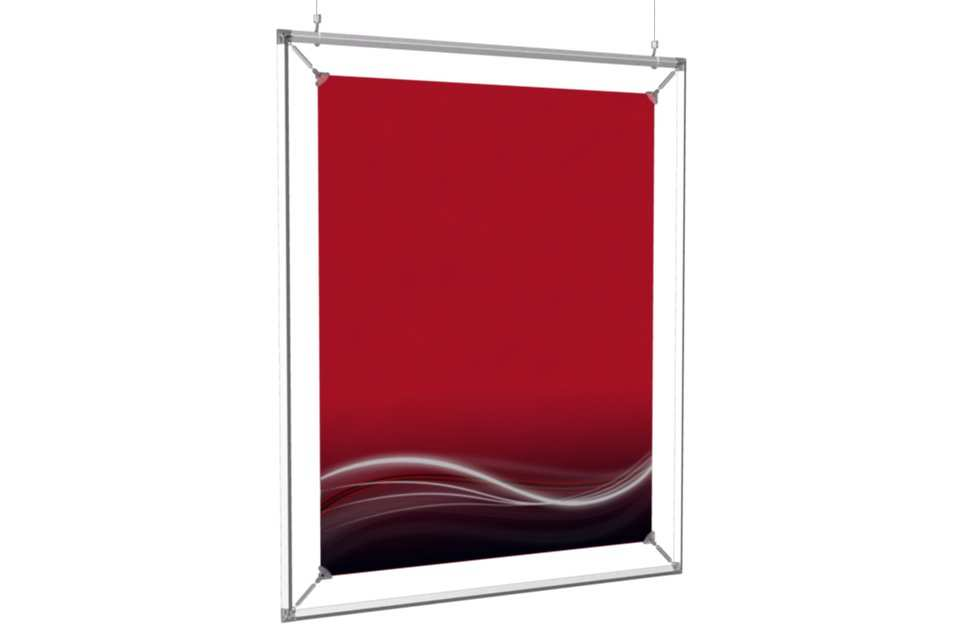 "Hanging Poster Frame to display a 22x28"" poster - AFIX Poster ..."