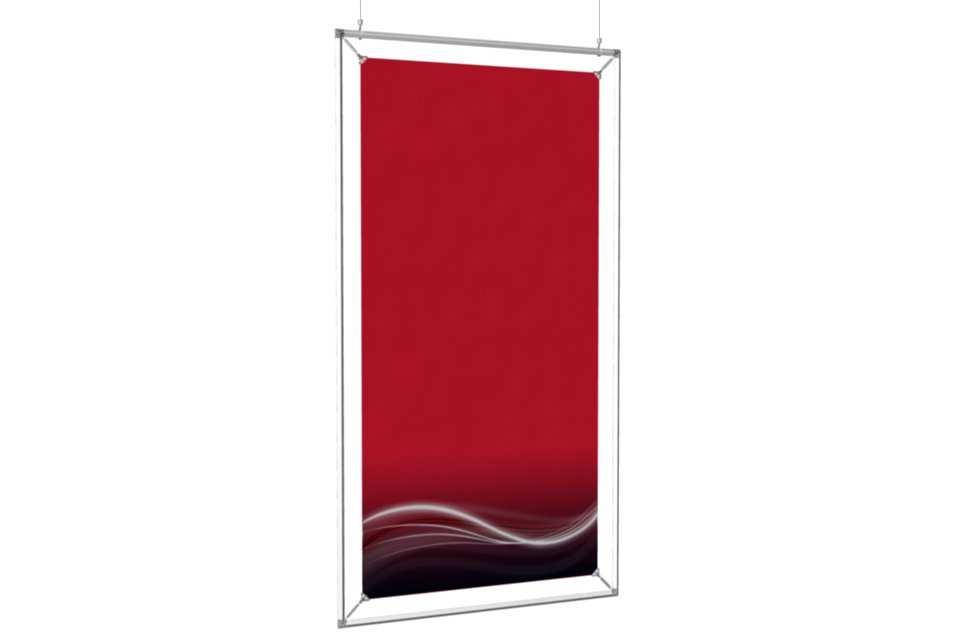 cadre suspendu pour un poster de 24x48. Black Bedroom Furniture Sets. Home Design Ideas