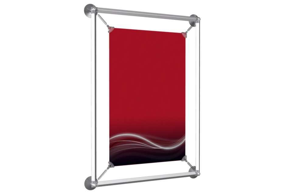 window poster frame to display an 11x17 poster afix poster display solution d 39 affichage. Black Bedroom Furniture Sets. Home Design Ideas