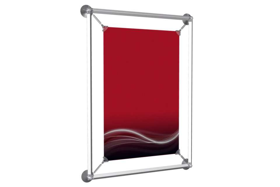 window poster frame to display a 12x18 poster afix