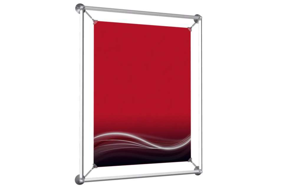 Window poster frame to display an 18x24 poster afix for 18 x 24 window