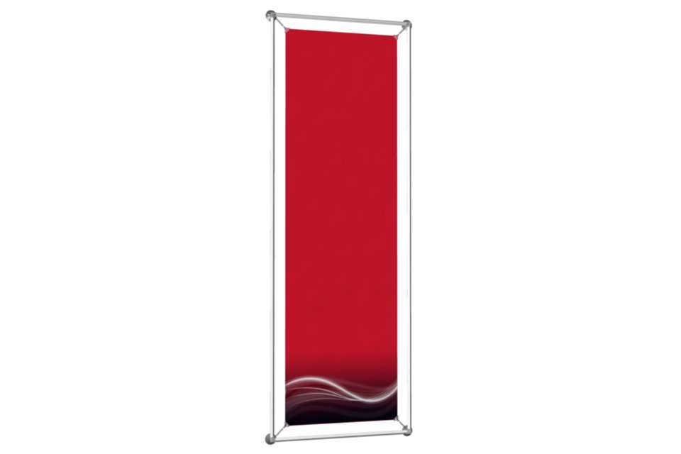 Window poster frame to display an 18x60 poster afix for 18 x 60 window