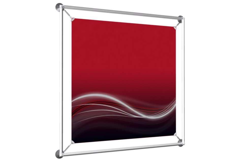 window poster frame to display a 24x24 poster afix poster display solution d 39 affichage. Black Bedroom Furniture Sets. Home Design Ideas