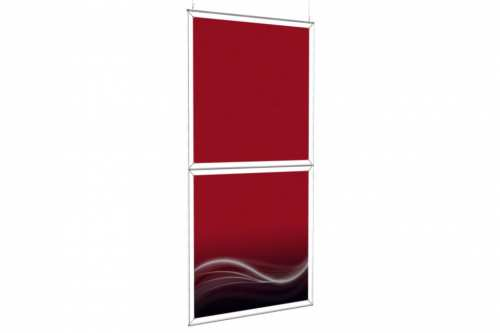 """Hanging Totem to display 48"""" wide posters (1x2)"""