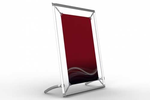 """Tilted Counter Frame to display an 11x17"""" poster"""