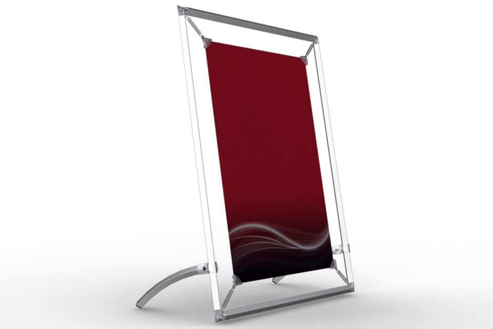 tilted counter frame to display a 12x18u201d poster