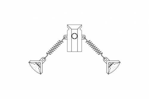 T-Clip Double avec 2 ressorts courts et clips