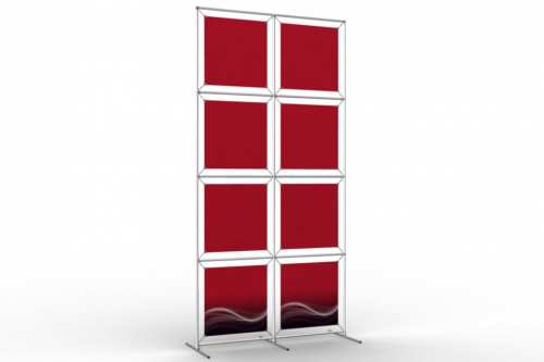 "Image Wall to display 18"" wide posters (2x4)"