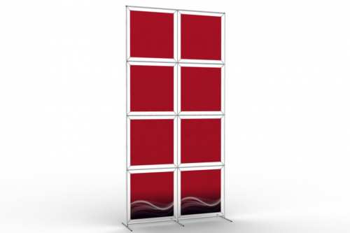 "Image Wall to display 24"" wide posters (2x4)"