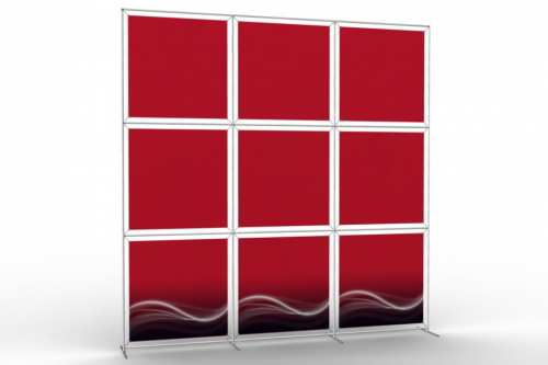 "Image Wall to display 36"" wide posters (3x3)"