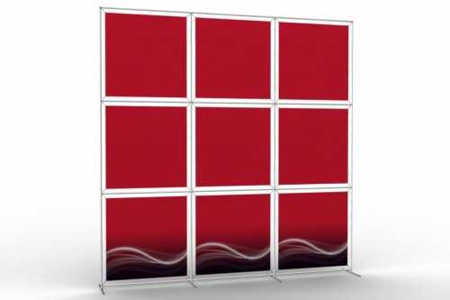 """Mur d'images pour neuf posters de 36"""" (3x3)"""
