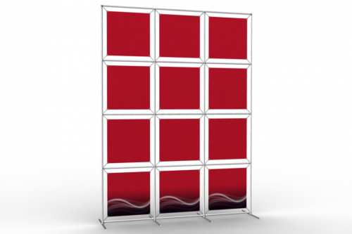 """Image Wall to display 18"""" wide posters (3x4)"""