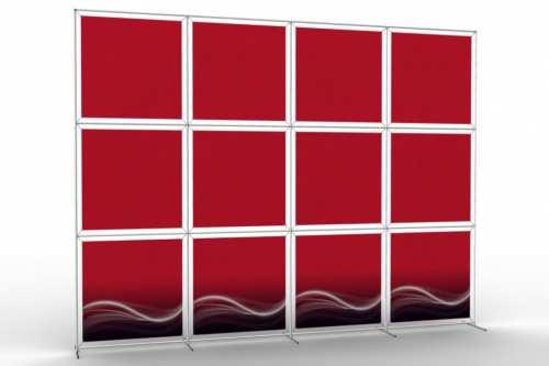 """Mur d'images pour douze posters de 36"""" (4x3)"""