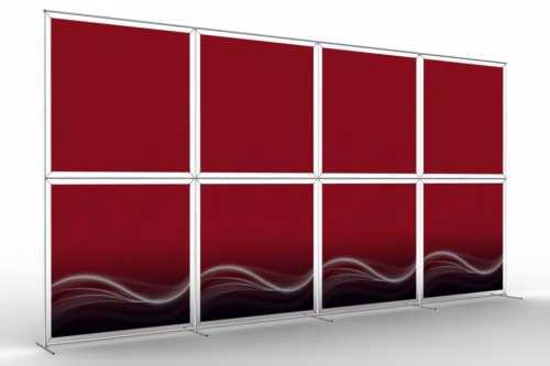 """Mur d'images pour huit posters de 48"""" (4x2)"""