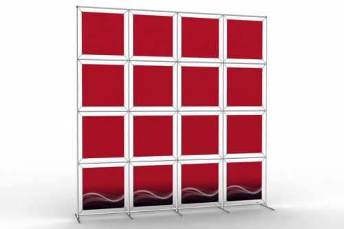 """Image Wall to display 18"""" wide posters (4x4)"""