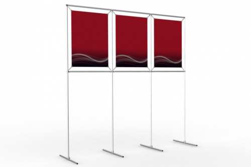 "Image Wall to display 18"" wide posters (3x1)"
