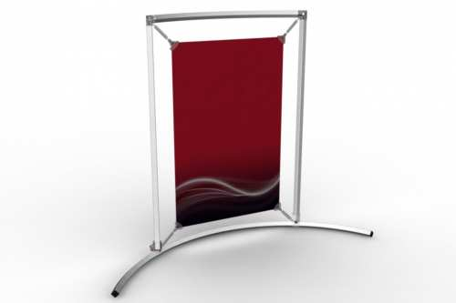 "Curved Counter Frame to display an 11x17"" poster"