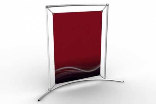"Curved Counter Frame to display an 18x24"" poster"