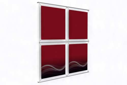 """Wall mounted Image Wall for 24"""" wide posters (2x2)"""