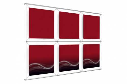 "Wall mounted Image Wall for 18"" wide posters (3x2)"
